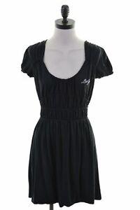 LIU-JO-Womens-A-Line-Dress-IT-40-Small-Black-Viscose-JW19