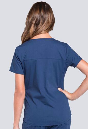 Navy Blue Cherokee Scrubs Workwear Professionals V Neck Top WW665 NAV