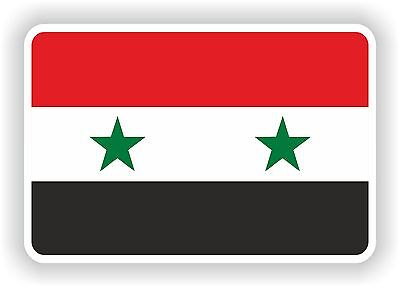 1x STICKER SYRIA Flag Bumper Decal Car Fridge Tablet Door Bike Book Skateboard