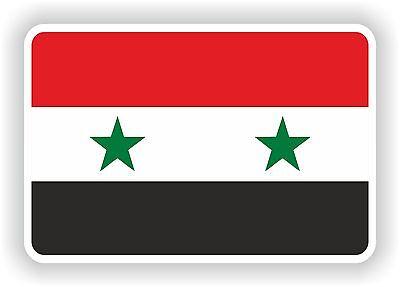 1x STICKER SYRIA Flag Bumper Decal Car Fridge Tablet Door Bike Book Skateboard