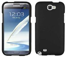 Protector Snap on Hard Shield Black Case for Samsung Galaxy Note II 2 N7100