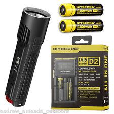 Nitecore EC4S 2150Lm Flashlight XHP50  w/2x NL183 18650 Batteries & D2 Charger