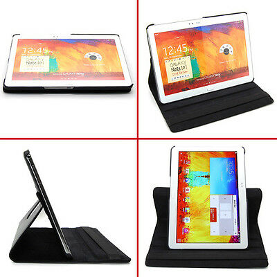 Deluxe Leather Case Stand Cover Fr Samsung Galaxy Note 10.1 2014 Edition SM-P600