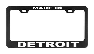 MY HEART BELONGS TO DETROIT License Plate Frame USA FLAG Auto Tag Border