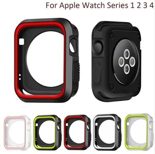 iwatch: Protective Case+Watch Band iWatch Strap for Apple Watch Series 6/4/3/SE 40/44mm
