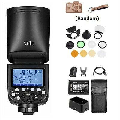 Compatible with Canon DSLRs 10 Level LED Modeling Lamp Godox V1-C Round Head Speedlite with AK-R1 Accessories Kit TTL Speedlight 2.4G Wireless System 1//8000s High-Speed Sync