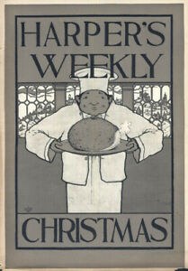 Harper's Weekly Christmas COVER by Maxfield Parrish 1895