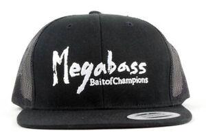 MEGABASS-BRUSH-TRUCKER-HAT-SNAPBACK-LOGO-FISHING-CAP-MENS-OSFM
