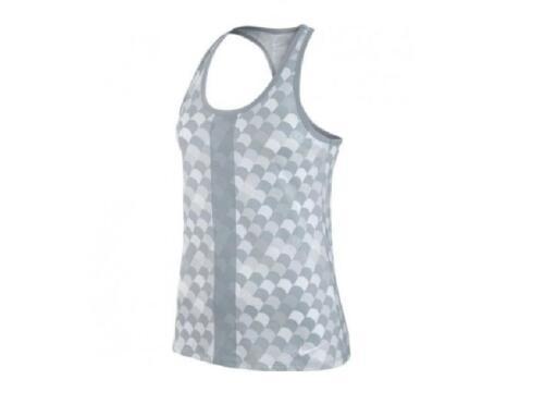 Grey /& White Nike Womens Arch Nem Singlet Tank Vest Racer Back Running Gym Top