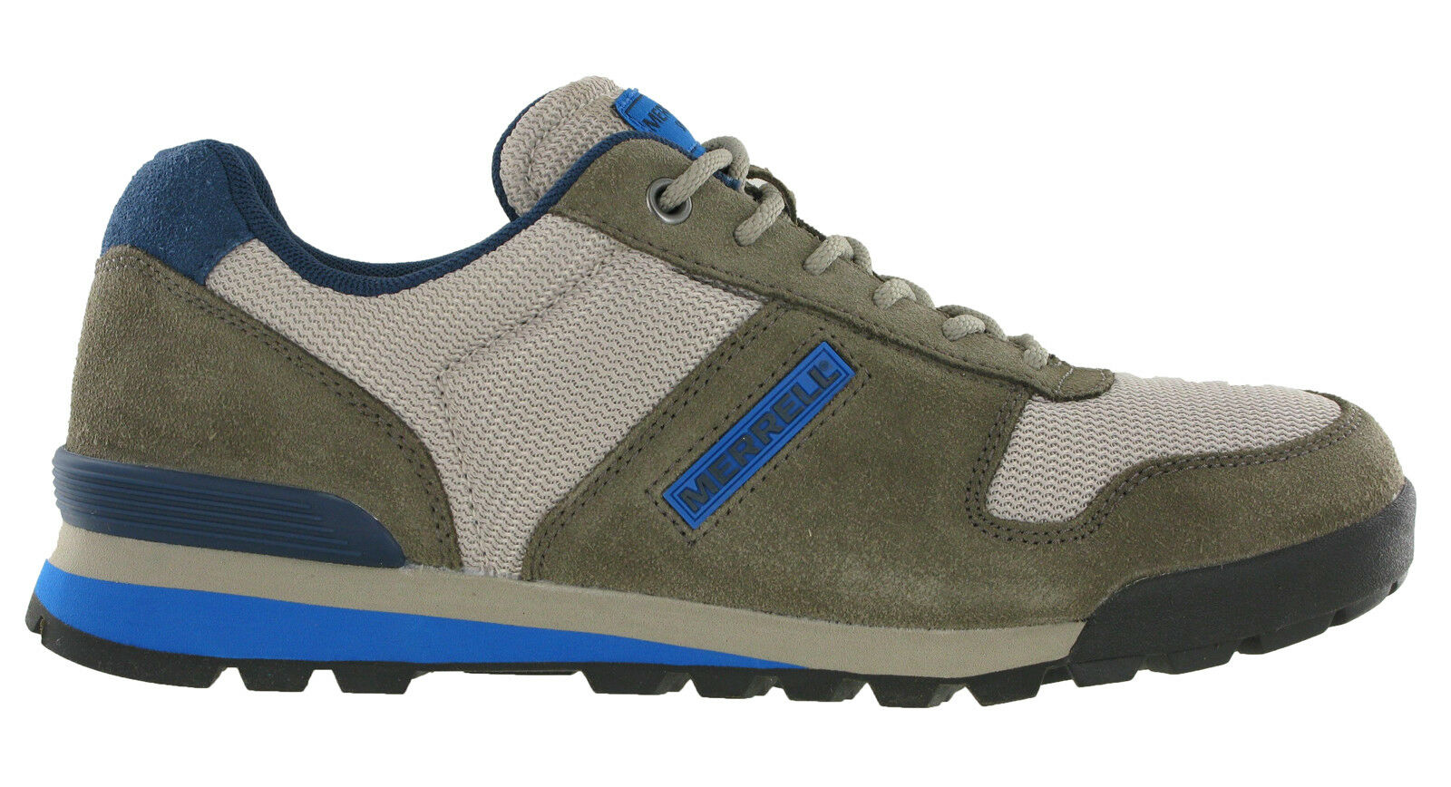 Merrell Solo Trainers Mens Casual Walking Hiking Leather Leather Leather Suede Padded Lace schuhe 276bbd