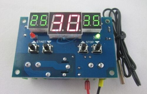 24V digital thermostat Temperature controller Heating Cooling 9°C-99°C probe