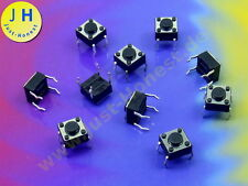 Stk. 10  x Taster / Tact Switch (4 pin) 6x6x 4,3 mm Reset Arduino 12V THT #A1820