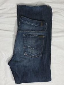 7-For-All-Mankind-Relaxed-Fit-Mens-Size-34-X-33-Blue-Denim-Jeans-VGC