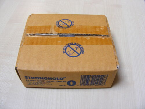 BOX OF 1000 SMALL PLASTIC POLYTHENE GRIP SEAL RESEALABLE POLY BAGS 1.5 x 2.5 In.