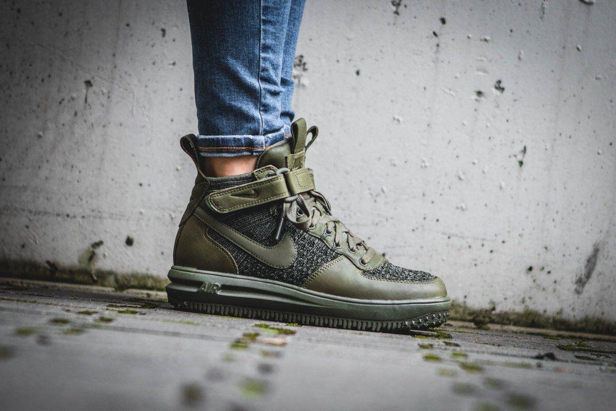 Wmns Nike Lf1 Flyknit Workboot air Lunar Force 1 Green Women Shoes 860558 200 38