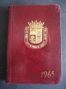 Detalles De Caja De Ahorros Y Monte De Piedad Zaragoza Aragon Y Rioja 1965 Mini Agenda Piel