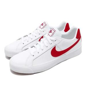 innovative design dcd38 7f8c9 Image is loading Nike-Court-Royale-AC-White-University-Red-Men-