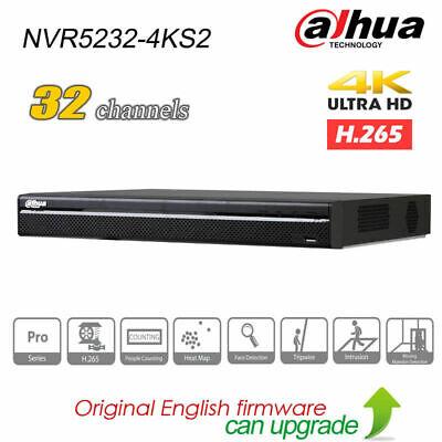 Dahua NVR5232-4KS2 P2P NVR 2 SATA 32Ch 1U 4K/&H.265 Pro Network Video Recorder