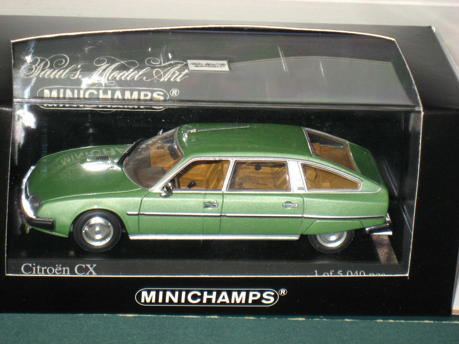 Minichamps 1982 Citroen CX Prestige Diecast 1 43 Limited Edition Metallic Green