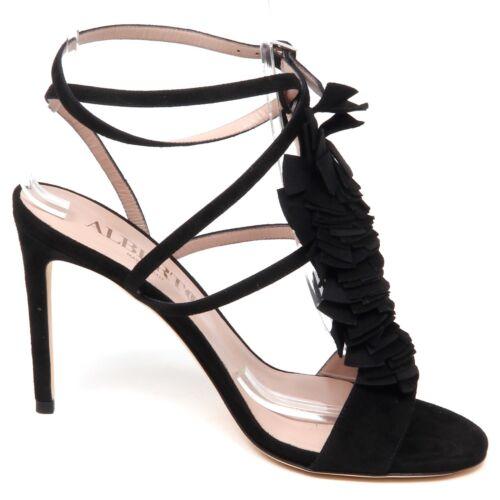 Svart Alberto Sandal Suede Sko Sandal Woman Gozzi Kvinner Shoe F1810 qaTtxwEa