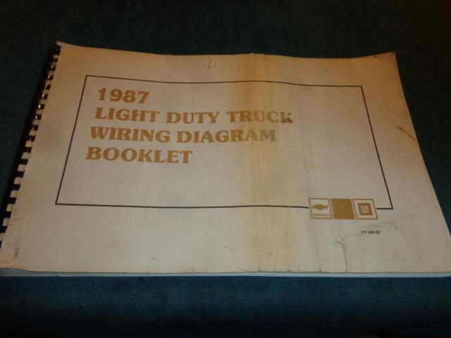 1987 Chevrolet Truck Wiring Diagram Shop Manual Pickups