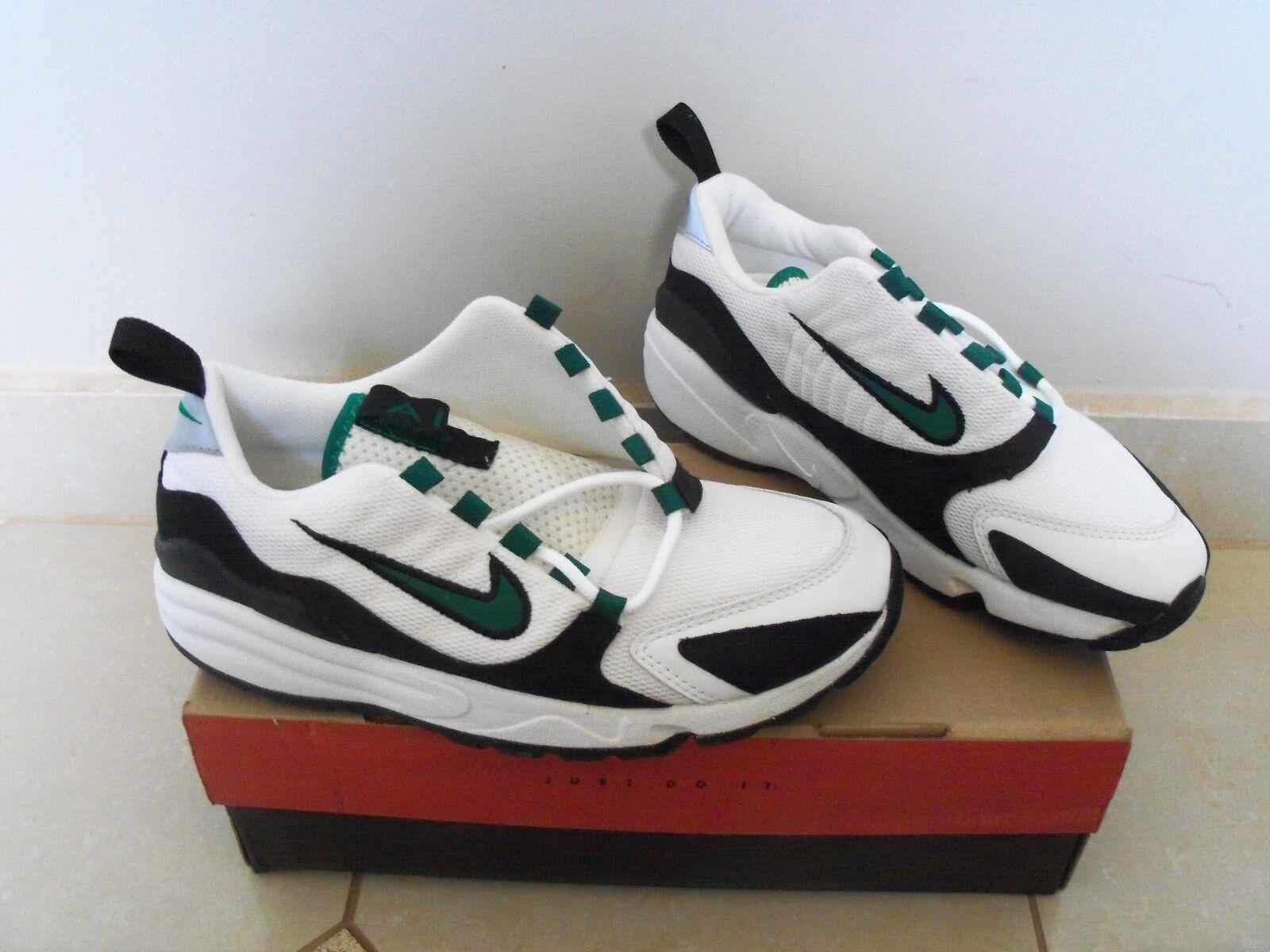 1996 og nike air stasi fs molto raro di scarpe vintage new sz: 8 cosa verde / nero