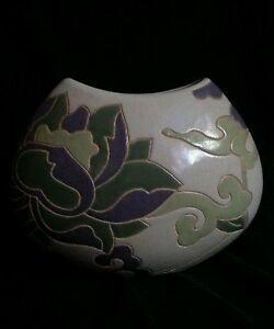 Vintage ceramic vase.Tulips 10 inches