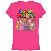 Nintendo Mario Characters Juniors Graphic T Shirt