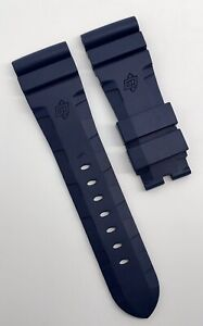 Authentic-Officine-Panerai-26mm-x-22mm-Accordion-Blue-Rubber-Tang-Strap-Band-OEM