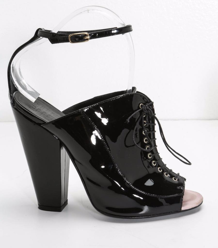 benvenuto a scegliere Givenchy da Donna Nero Vernice Allacciate Allacciate Allacciate Tacco a Blocco Stivaletti High-Heels  miglior servizio