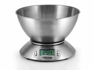 Bilancia Da Cucina Digitale Elettronica Di Precisione Ciotola Inox 2,5 L Tristar