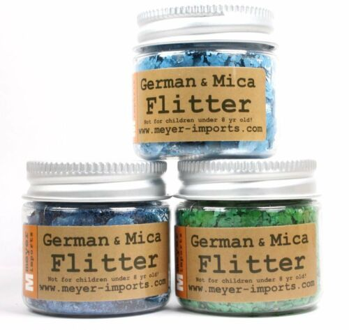 Mica Flakes Set of 3 311-M-0703 Blue and Green The Professionals Choice