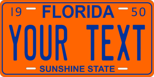 Florida 1950 License Plate Personalized Custom Auto Car Bike Motorcycle Moped