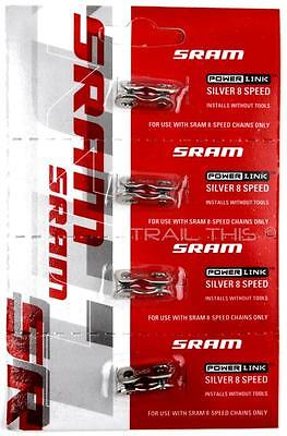 silver 4 pack sram power link for 8 speed bike
