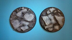 Unpainted 80mm resin bases rubble scenery Forgeworld Dreadnought Leviathon 40k - blaydon, Tyne and Wear, United Kingdom - Unpainted 80mm resin bases rubble scenery Forgeworld Dreadnought Leviathon 40k - blaydon, Tyne and Wear, United Kingdom