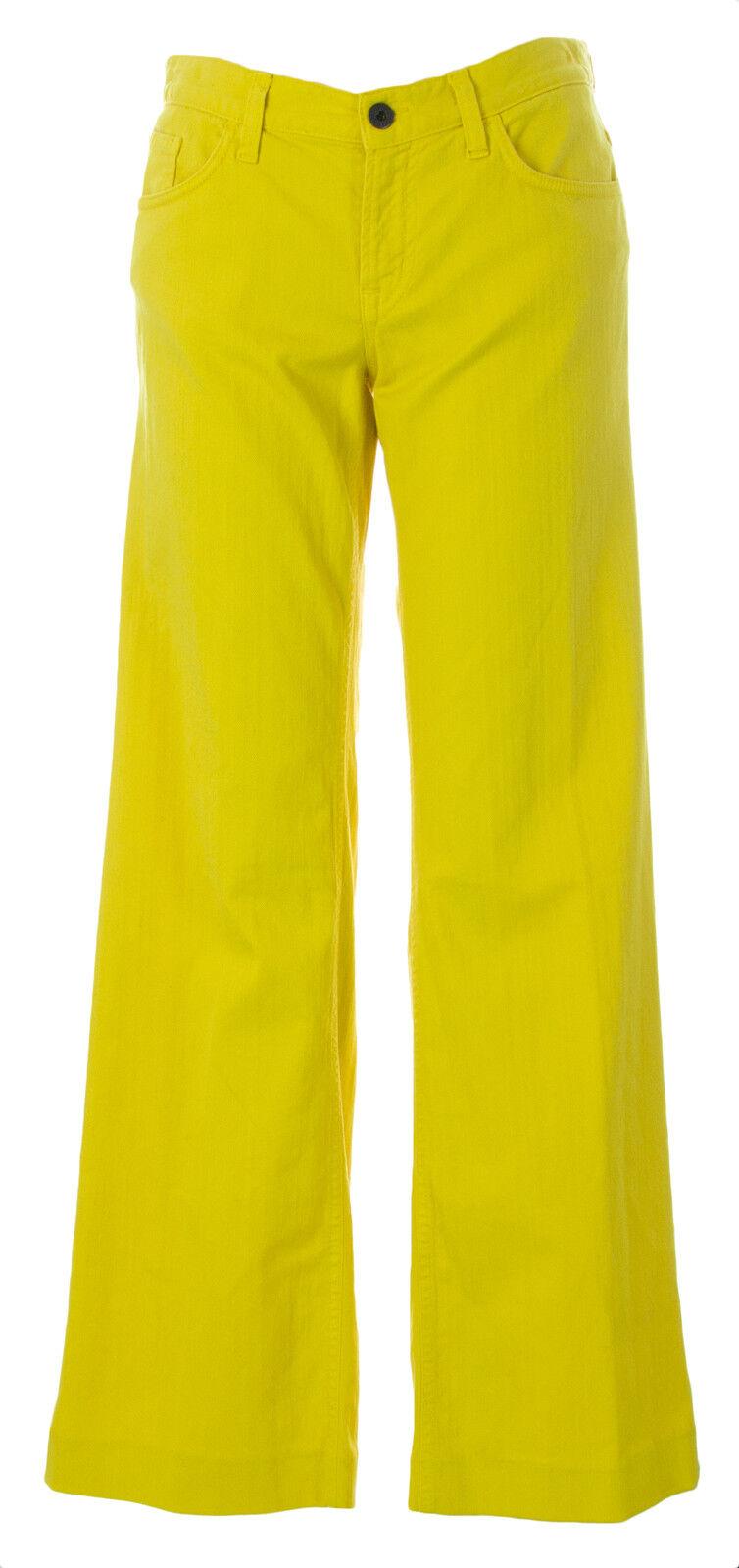 Gant Damen Löwenzahn Gelb Carol Breit Ausgestellte Jeans 410764 Neu