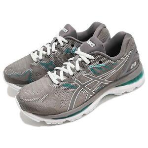 Asics-Gel-Nimbus-20-Carbon-Grey-Green-Women-Running-Shoes-Sneakers-T850N-020