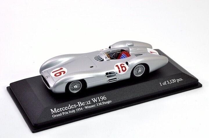 Minichamps 432543016 Mercedes-Benz W196 4.9mFangio 'Gewinner Gp von Italien 1954