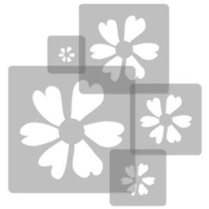 Purposeful 5x Reusable Plastic Stencils Nursery Template // Flower #2 High Quality 34x34cm To 9x9cm