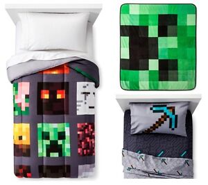 Image Is Loading Kids S Boys Minecraft Bed In A Bag