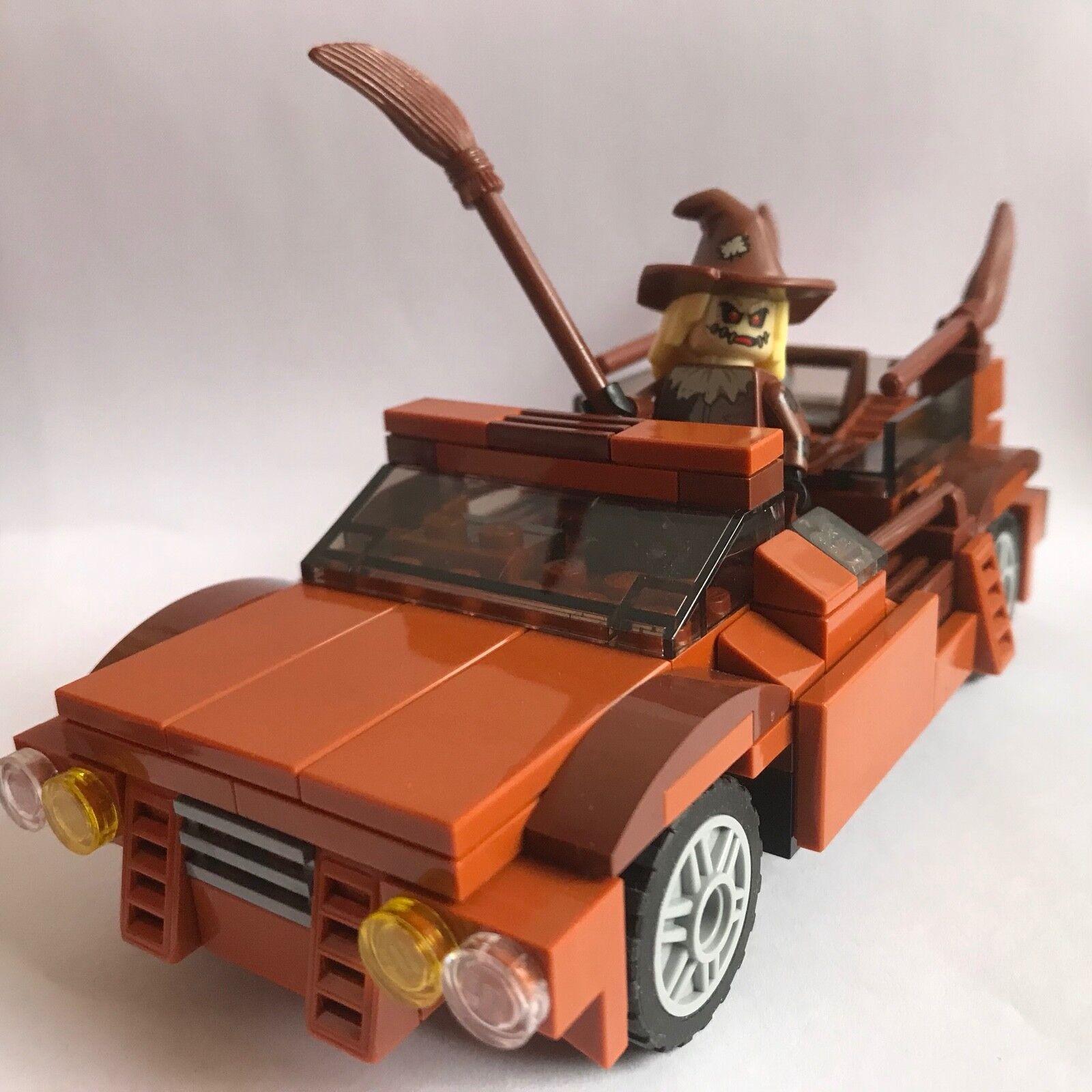 Lego cuervo de susto (70913) + Diseño Marrón Town Car (mi-sólo piezas de LEGO) Raras