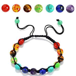 7-Chakra-Healing-Yoga-Reiki-Prayer-Stones-Balance-Beaded-Bracelet-Braided-Bangle
