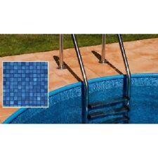 Poolfolie 350 x 90 cm 0,6 mm stark sandfarben überlappend Austauschfolie Pool