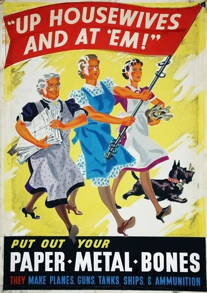 Gin WW2 War Poster Ginsanity We Can Do It A3 Poster
