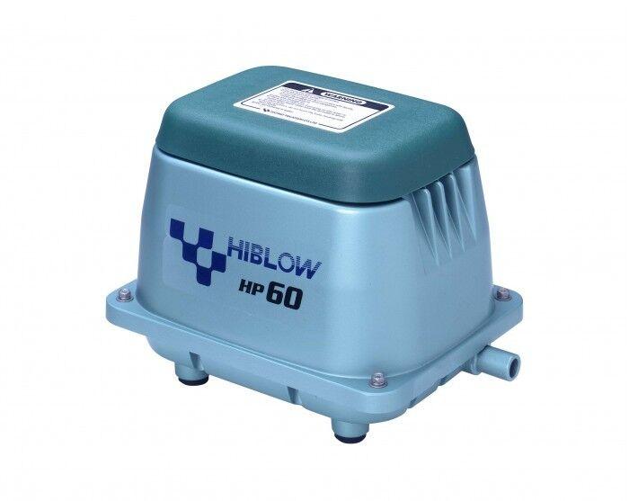 Hiblow hp-60 pacchetto completo M. di distribuzione, tubo flessibile e pietre aria 60 L min. 51w