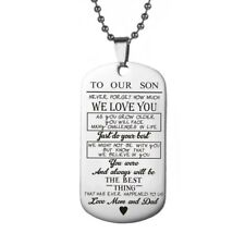93c0d6feedf4 item 1 Stainless Steel Son Daughter Necklace Badge Dog Tag Bead Chain Gift  Love Mum Dad -Stainless Steel Son Daughter Necklace Badge Dog Tag Bead  Chain Gift ...