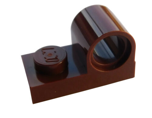 reddish brown Lego 10 Platten mit Lochülse 1x2 braun 11458 Pinloch Achsloch