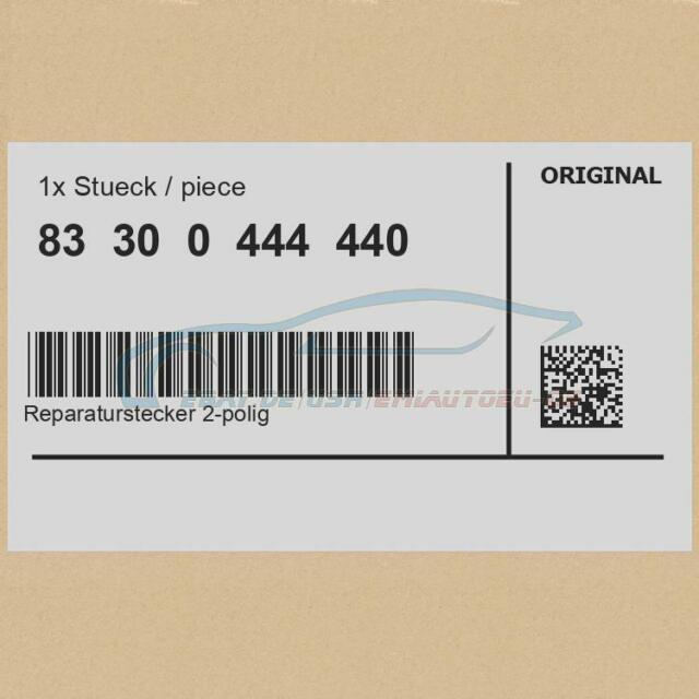 Original BMW 83300444440 - [SONDERPREIS] Reparaturstecker 2-polig No. 610622