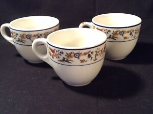 """Lot 3 Syracuse China """"Oriental"""" 3"""" Coffee Cup Mugs - Excellent"""