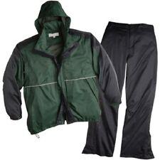 New ShedRain Golf Sports Rain Suit BLACK GREEN Jacket Pants Medium UNISEX